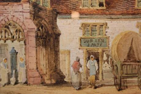 Watercolour of The Sun Inn by Charles Rousee image-4