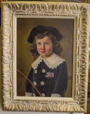 Karl Gehn Oil on Canvas of a Girl