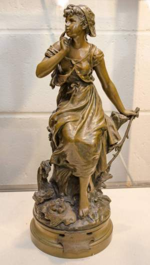 Bronze Figure by Hippolyte Moreau