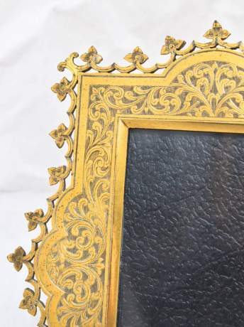 Victorian Brass Chased Photography Frame image-2