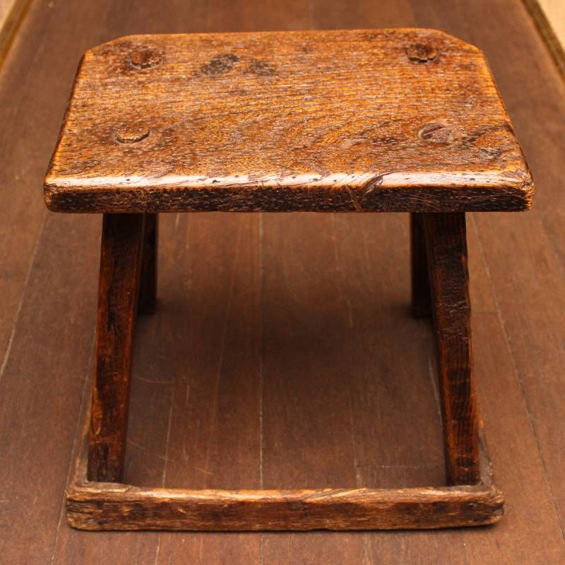 Early Rustic Elm And Pine Stool Other Pine Furniture Hemswell Antique Centres