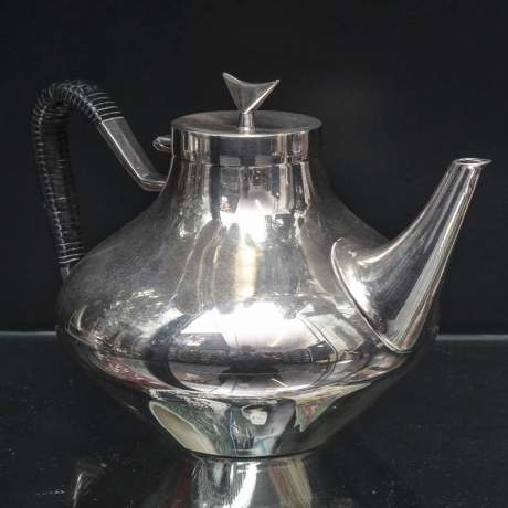 Danish Silver Plated Teaset image-3