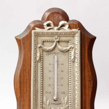 Victorian Silver and Rosewood Thermometer image-2