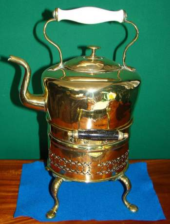 Victorian Brass Kettle and Stand image-1