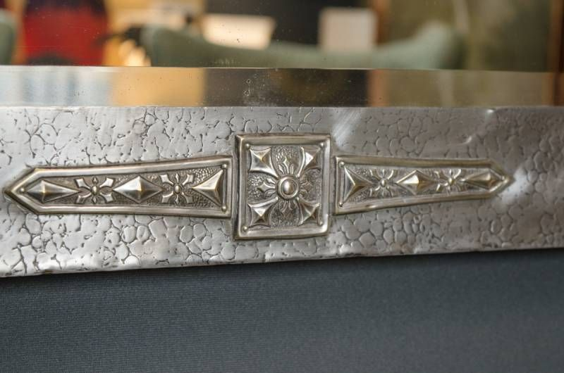 Arts And Crafts Pewter Framed Mirror Antique Mirrors
