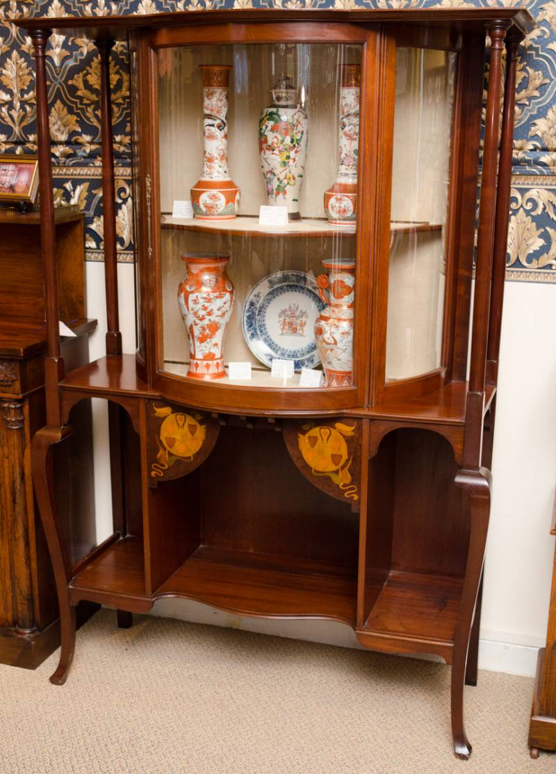 Arts and crafts 19th century display cabinet furniture for Furniture etc