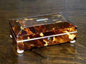 Antique Tortoiseshell and Ivory Jewellery Box