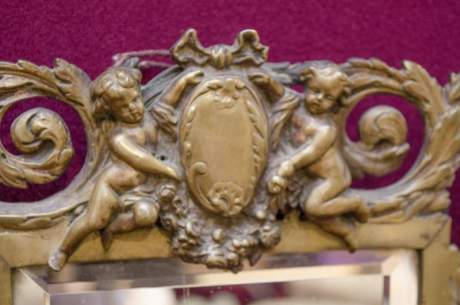 Antique Bronze Framed Wall Mirror image-2