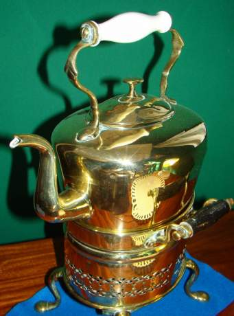 Victorian Brass Kettle and Stand image-3