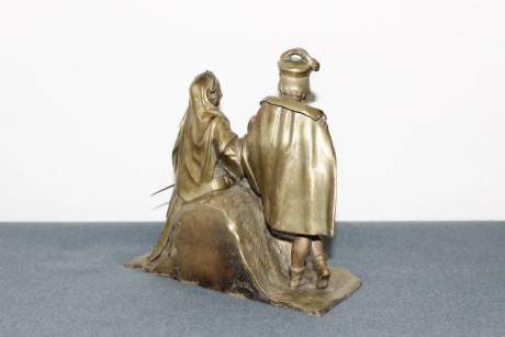 French Gilt Bronze Double Figure image-4