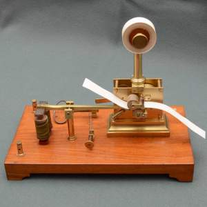 Early French Mechanical Morse Printer