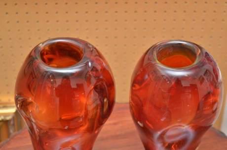 Good Pair of Murano Glass Vases image-4