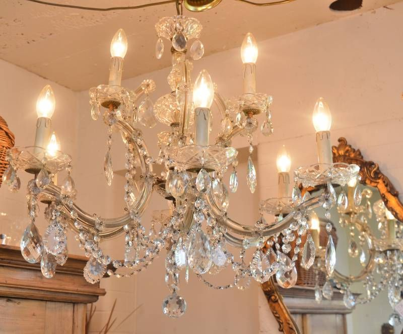 Beautiful french crystal draped chandelier