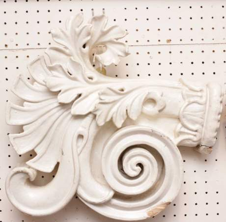 Pair of Carved Wooden Embellishments image-1