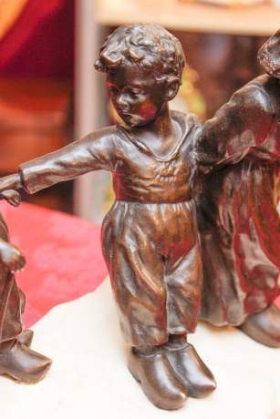 Bronze and Marble of Children at Play image-4