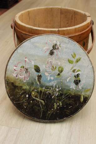Hand Painted American Folk Art Sugar Container image-3