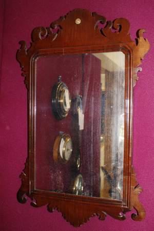 Fine George III Period Mahogany Fretwork Mirror