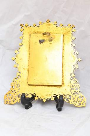 Victorian Brass Chased Photography Frame image-4