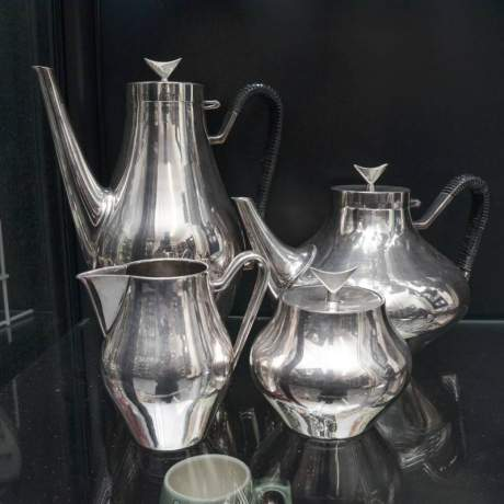 Danish Silver Plated Teaset image-1