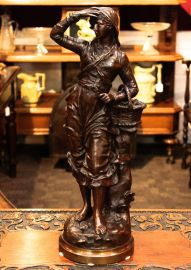 French Bronze Figure of a Woman signed C Anfrie