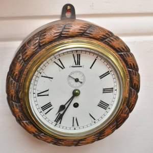 Oak Cased Ships Clock