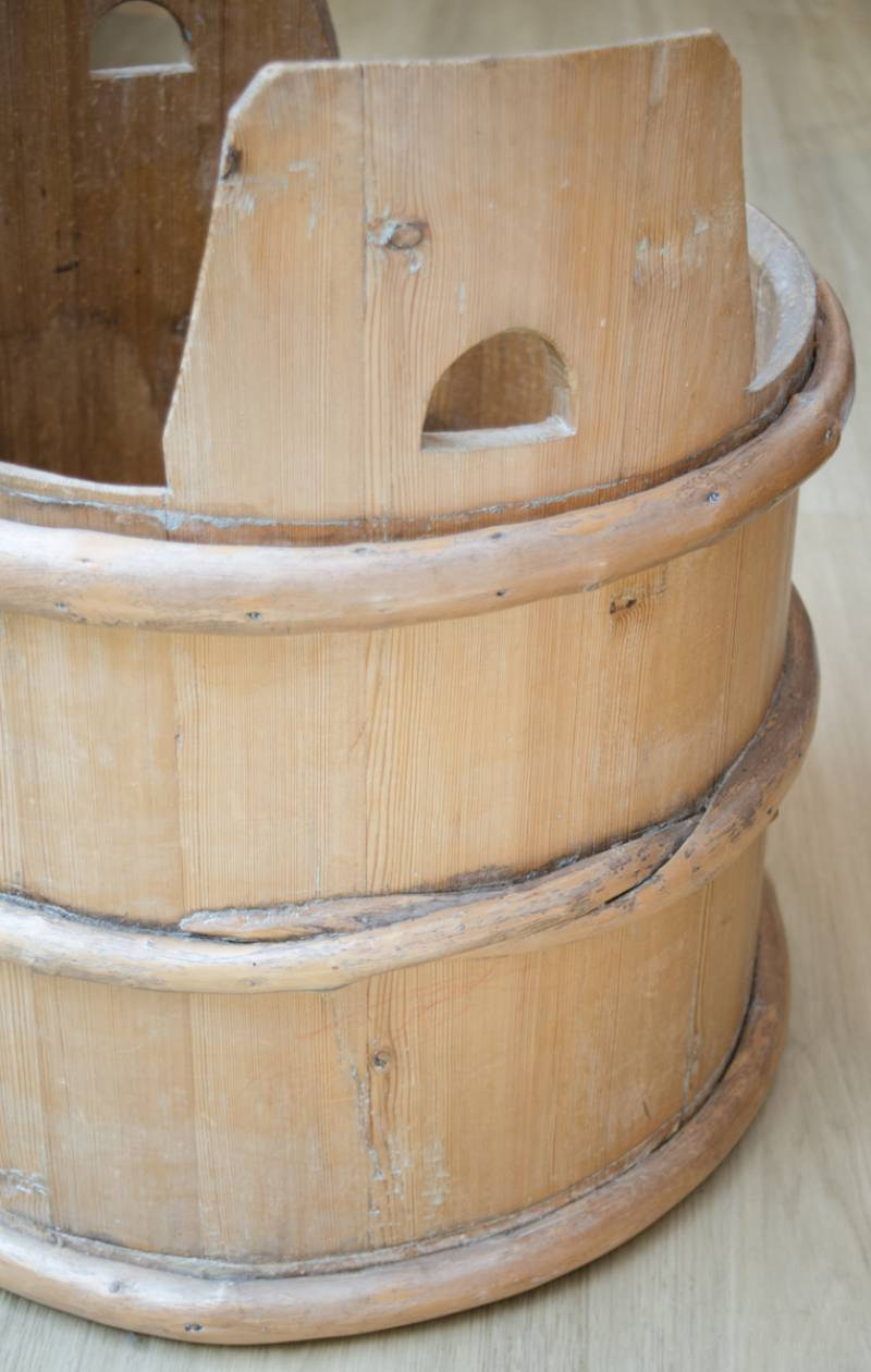 19th Century Swedish Pine Grain Barrel Other Pine Furniture Hemswell Antique Centres