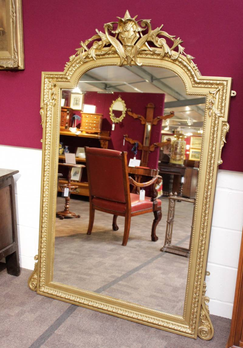 Victorian gilt wood pier glass mirror antique mirrors for Victorian woodwork
