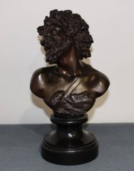 19th Century French Bronze Bust of Bacchus