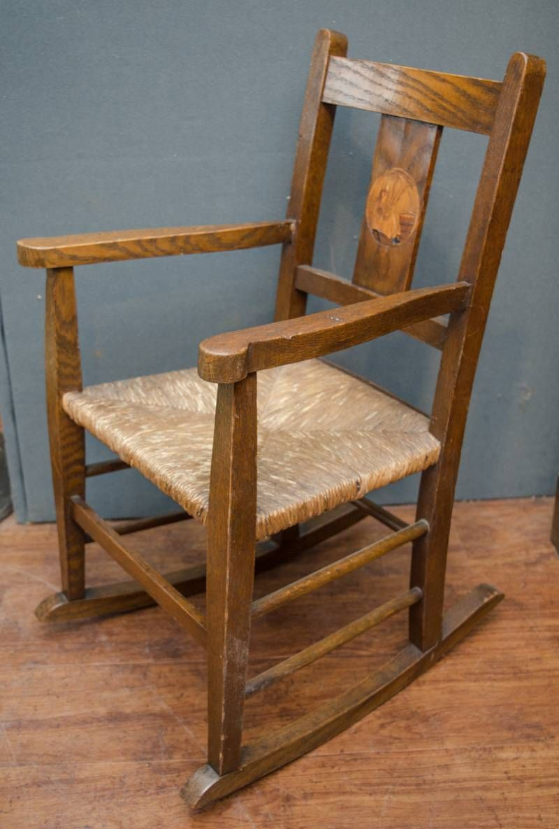 Arts and crafts childs rocking chair furniture etc for Furniture etc