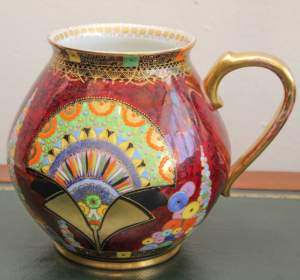Carlton Ware Egyptian Fan Lustre Jug