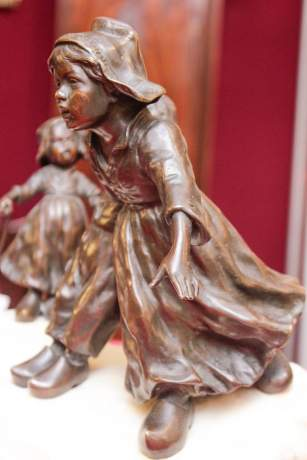 Bronze and Marble of Children at Play image-3