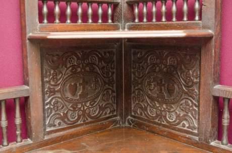 Antique Carved Oak Corner Cupboard image-2