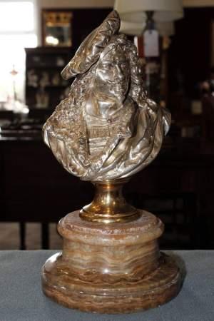 Albert Carrier-Belleuse Bronze Bust of Rembrandt