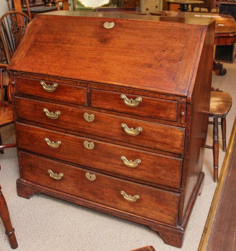 good george iii bureau in mahogany antique desks hemswell antique centres. Black Bedroom Furniture Sets. Home Design Ideas