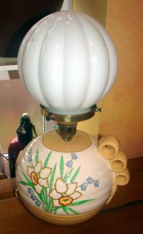 Crown Devon Art Deco Ceramic Lampbase image-1