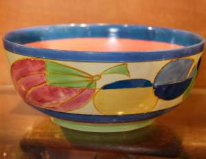 Clarice Cliff Pastel Melon Holborn Bowl