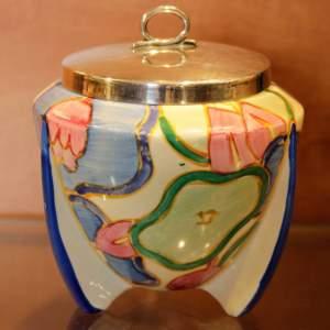 Clarice Cliff Blue Chintz Sugar Bowl