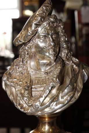 Albert Carrier-Belleuse Bronze Bust of Rembrandt image-2