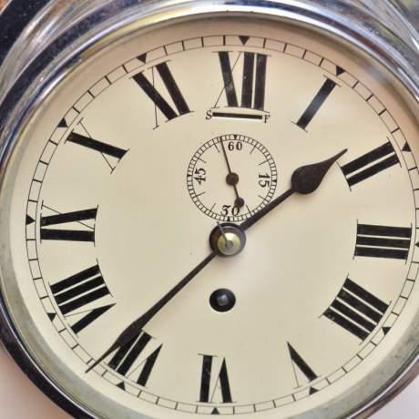 Chrome Cased Ships Clock image-3