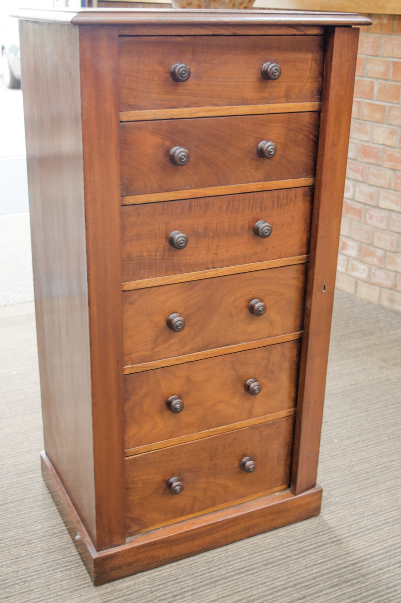 19th Century Mahogany Wellington Chest Antique Chest Of Drawers Hemswell Antique Centres