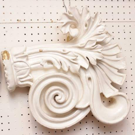 Pair of Carved Wooden Embellishments image-3