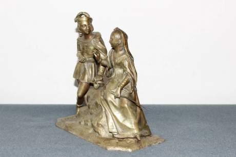 French Gilt Bronze Double Figure image-3