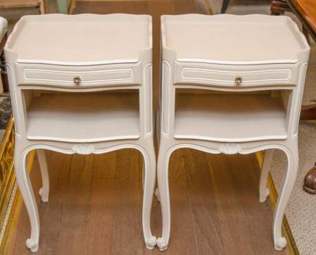 Pair of Painted Bedside Tables image-1