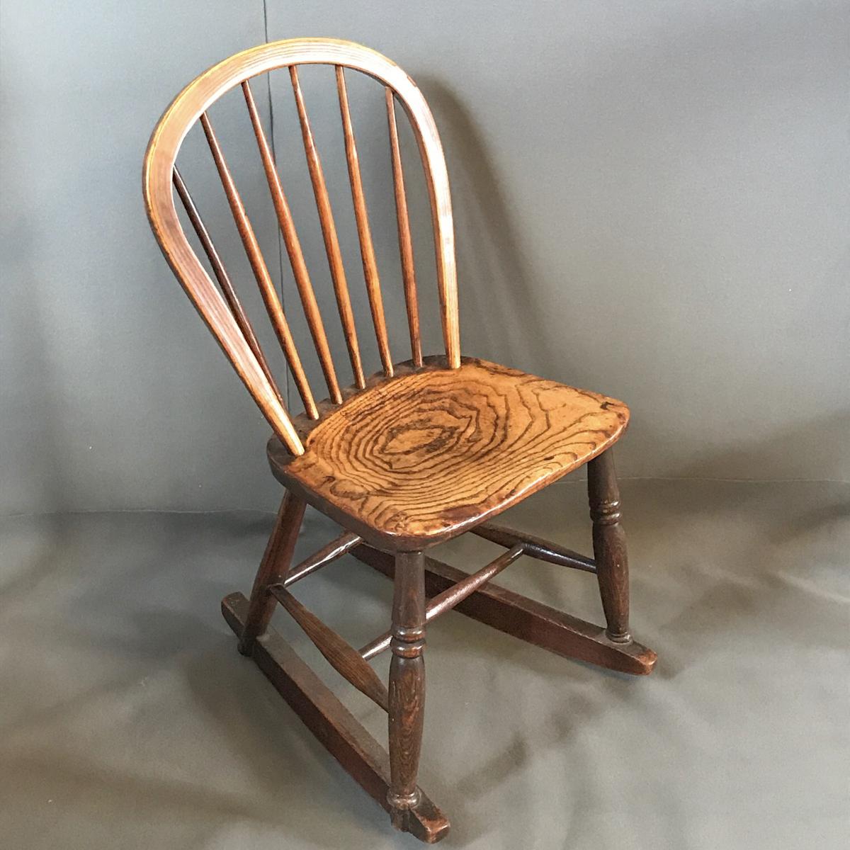 Kitchen Chairs Vintage: Victorian Small Kitchen Rocking Chair