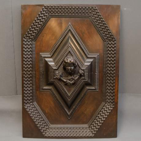 Pair of Good Large Carved Wooden Panels image-5