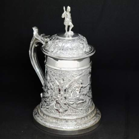 Victorian Silver Plated Tankard image-1