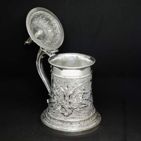 Victorian Silver Plated Tankard image-2