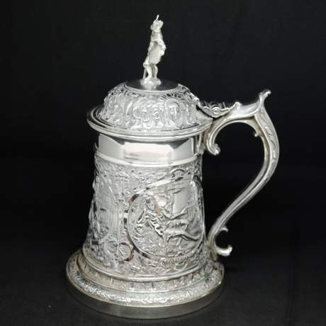 Victorian Silver Plated Tankard image-4