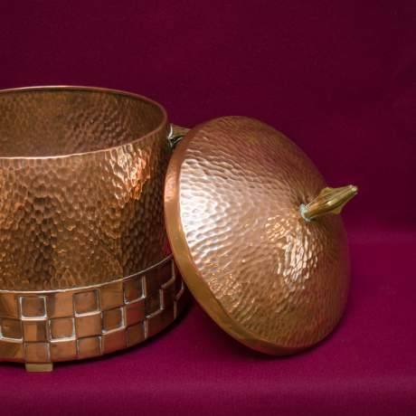 WMF Secessionist Copper Ice Pail and Two Ice Buckets image-3