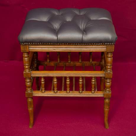 Good Quality Late Victorian Music Stool image-1